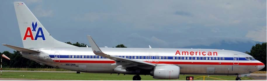 Boeing 737 American color Chrome paint (Kit)-Gliders