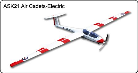 FlyFly ASK-21 Electric Glider Cadets 2.6M