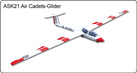 FlyFly ASK-21 Glider Cadets  2.6M