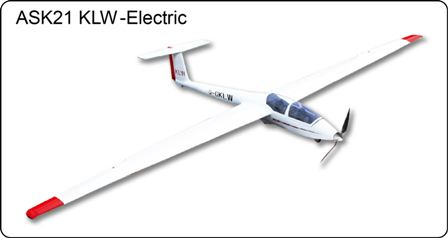 FLyFLy ASK-21 KLW Electric Glider 2.6M