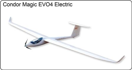 Condor Magic Electric Glider 3.0M with 720kv Motor/Prop