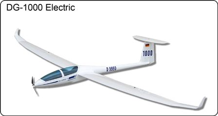 FlyFly DG1000 Electric Glider 2.6M with Motor & folding Prop