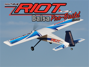 MAX THRUST PRO-BUILD BALSA RIOT KIT BLUE - IC OR ELECTRIC