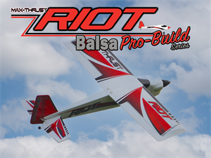 MAX THRUST PRO-BUILD BALSA RIOT KIT RED - IC OR ELECTRIC