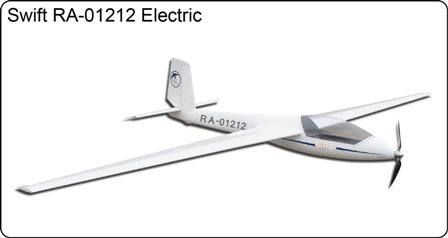 FlyFly Swift S-1 2.5M  Electric Glider with Brake & Retract