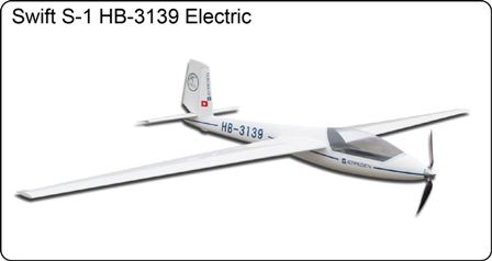 FlyFly Swift S-1 Electric Glider with brake & retract wheel