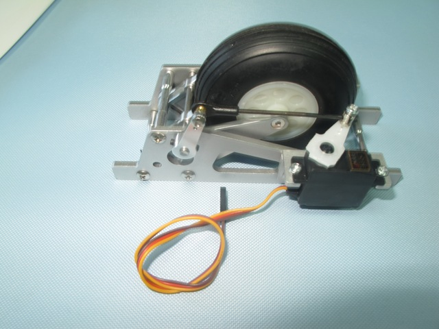 Discus retract with servo tray (for 4M Gliders)