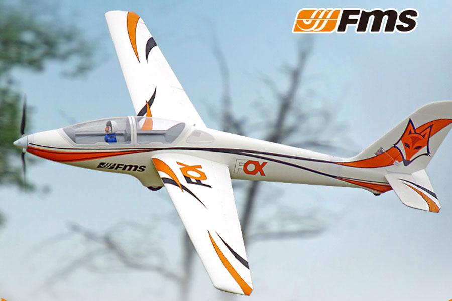 FMS 3000MM FOX GLIDER ARTF W/O TX/RX/BATT